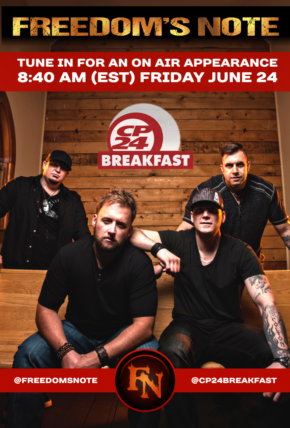 Freedom's Note on CP24 Breakfast Toronto
