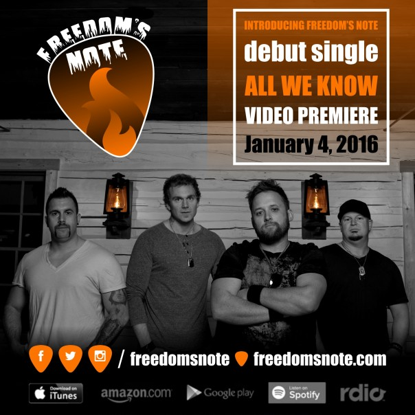 Freedom's Note - All We Know - Official Video Coming January 4, 2016